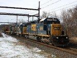 CSX 8848, 2312, 6414 on W054 work train